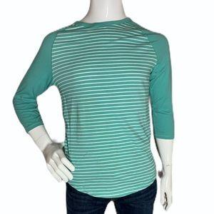 Express Men's Striped 3/4 Jersey Raglan T-Shirt
